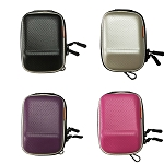 Hard Shock Resistant Compact Digital Camera Case Double Zipper Protective Bag Pouch CHOOSE A COLOR