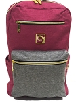 ELESAC 14 inch children's backpack for school, camp, travel, water resistant kids backpack (Berry Red/Gray)