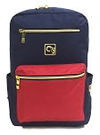 ELESAC 16.5 inch backpack for school, camp, travel, water resistant kids backpack (Navy/Red)