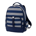 Greyson Backpack (Blue and Gray Stripe)