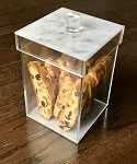 Luxury Marble Lucite Cookie Jar
