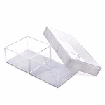 Lucite Divider Sectional Tray (2 Compartments - Small) CHOOSE A COLOR