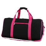 Quilted Large Duffle Bag (Black/Pink)