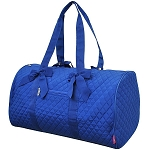 Quilted Large Duffle Bag (Royal Blue)