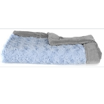 Saranoni Light Blue Swirl Gray Blanket