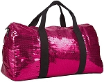 Sequin Fashion Duffle Bag (Hot Pink)