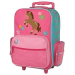 Stephen Joseph Classic Rolling Luggage (Girl Horse)