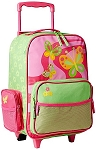 Stephen Joseph Classic Rolling Luggage (Butterfly)