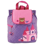 Stephen Joseph Quilted Backpack (Princess Bear)