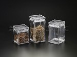 Lucite Square Cookie Jar CHOOSE A SIZE (3 Sizes)