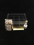 Lucite Acrylic Organizer 6 Compartment Tea Box Mishloach Manot