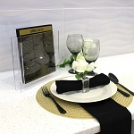 WATERDALE Bencher Sets Gold Black Lucite 8x9  Ashkenaz