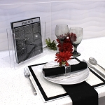WATERDALE Bencher Sets Silver Black Lucite 8x9  Ashkenaz