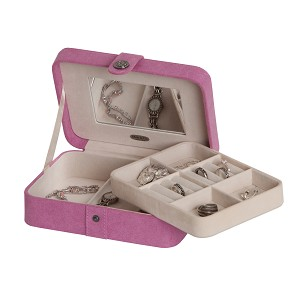 Giana Plush Fabric fashion jewelry box (Pink)