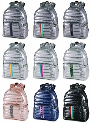 Puffer Metallic Full Size Backpacks - ASSORTED COLORS