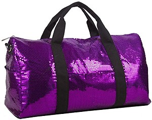 Sequin Fashion Duffle Bag (Purple)