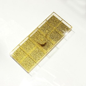 Gold Shimmer Lucite Simanim / Sectional Tray