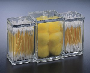 Lucite 3 Square Canister Box