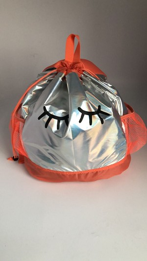 Metallic Camp Bag Backpack (Orange)