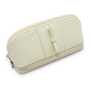Morelle & Co Rachel Leather Cosmetic Jewelry Case (Cream)