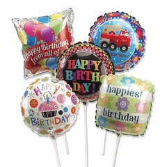 PackSun Assorted Birthday Balloons Pre Inflated
