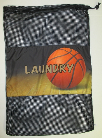 Bunk Junk Basketball Mesh Laundry Bag
