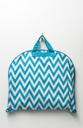 Chevron Fashion Garment Bag (Turquoise)