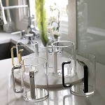 Lucite Washing Cup with Color Handles