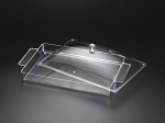 Lucite 20 x 11 Serving Tray with Cover