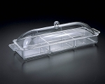 Lucite 17 x 6 Long Tray with cover