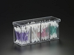Lucite 4 Compartment Box with Cover