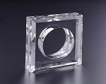 Lucite Square Napkin Ring