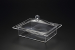 Lucite Rectangle Tray W/ Cover