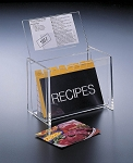 Lucite Lid Display Recipe Box