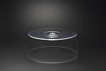 Lucite 11.5 Inch Round Tray With Cover