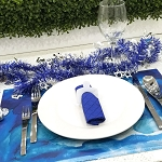 Lucite Dreidel Napkin Rings SET OF 6 CHOOSE A COLOR