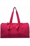 Quilted Large Duffle Bag (Hot Pink)