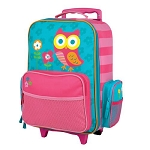 Stephen Joseph Classic Rolling Luggage (Teal Owl)