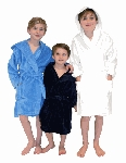 100% Cotton Absorbent Terry Velour Kids Hooded Bathrobe CHOOSE A SIZE