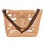 Copper Tufted Metallic Weekender Bag