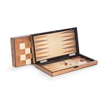 Wood Backgammon & Chess Set