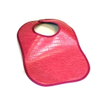 Leather Bib - Patent Leather (Pink)