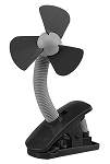 4 Inch Battery Operated Stroller Clip on Fan – Black