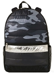 Black Camo Puffer Backpack