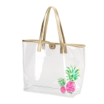 Pineapple Retreat Clear Tote Bag