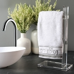 Lucite Finger Towel Stand