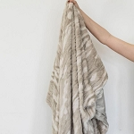 Tan Marble Lush/Minky Throw Blanket
