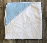Infant Hooded Towel Twill (Light Blue) INCLUDES EMBROIDERY