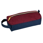 ELESAC Pencil Case (Navy/Wine Red)