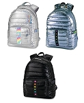 Puffer Metallic Full Size Backpacks Collection B